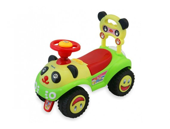 Masinuta de impins copii Baby Mix Panda ZDX760 Green Red