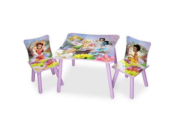 Set masuta si 2 scaunele Disney Fairies