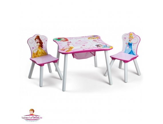 Set masuta multifunctionala si 2 scaunele Disney Princess