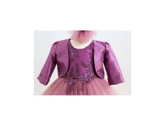 Rochita Botez Luxury Purple Lace 12 pana la 18 luni
