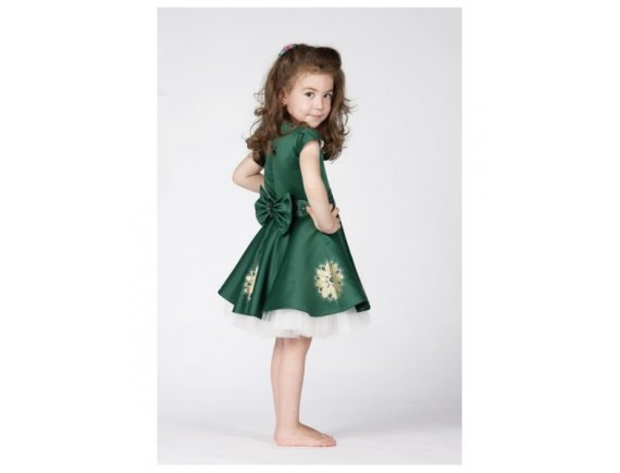 Rochita Green Arabic Dress pictata manual 2 ani