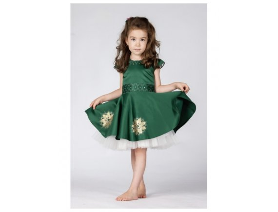 Rochita Green Arabic Dress pictata manual 12 luni
