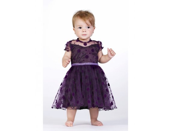 Rochita Purple Drops Dress 1 an pana la 2 ani