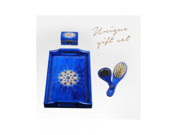Set Cadou Blue Arabic Night Dream pictat manual