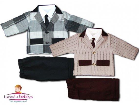 Compleu baiat 4p pantalon sacou camasa cravata mar 22-26
