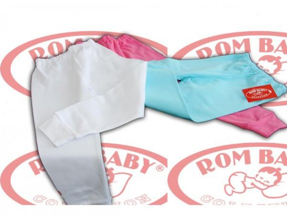 Pantaloni bebelusi cu manseta